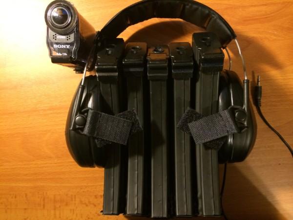 自作ヘッドセット アクションカム用自作ステーVer.2の搭載